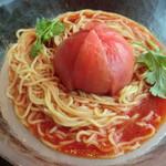 華琳 - 冷やしトマト中華、トッピングは別添え