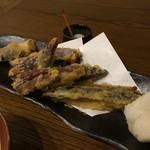 美味物問屋 うれしたのし屋 - 地茄子の天ぷら 2016.07再訪