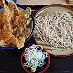 天丼てんや - 天丼と小そばセット720円