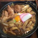 山長 本店 - 料理写真:味噌煮込みうどん大盛りに親子トッピング @1150円