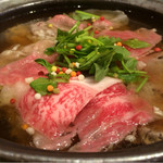 カジュアル割烹 Shun - 熱々の出汁をかけたら、こんな美味しそうな色に!