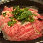 カジュアル割烹 Shun - 牛しゃぶロースのスープ茶漬け