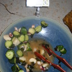 隠れ房 御庭 - 胡瓜と蛸の梅叩き