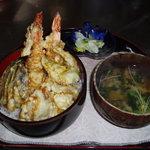毘沙門茶屋 - 天丼