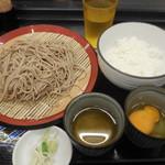 すたんど そば助 - 朝セット(玉子) ¥380-