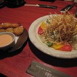 串ぜん - エビのプリプリとハーブサラダ