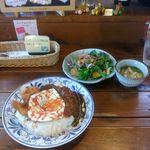 創作洋食屋 タムノス・樹 - 料理写真:今週のオススメランチ インディアンカレー(ご飯大盛)1000円