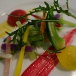 53555373 - 赤烏賊のマリネと鎌倉野菜