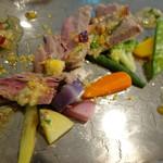 ル・マルカッサン ドール - 仔牛と鎌倉野菜ののコンソメ蒸し