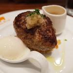 ミセスバーグ キンシチョウ - 粗挽きブラックペッパー・柚子胡椒ソース(1100円)