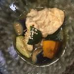 kissaco - 豆腐もちと夏野菜の揚げ浸し