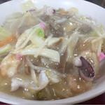三淑園 - 皿うどん(あげ麺) ¥850-