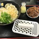 讃岐うどん屋 - 生の大根をおろして、ゆずと醤油をかけて食べます。(2016.7 byジプシーくん)