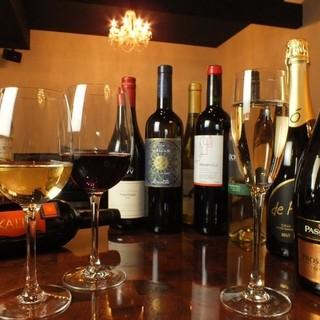 イタリア産ワインを中心に、ワインが充実しています