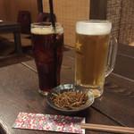 我流酒房 胡麻や - 生ビールとウーロン茶