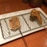 串揚げ 起世 - 牛ハラミ ブロッコリー