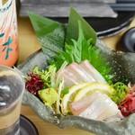 肉×魚×日本酒 照 - 『鯛の刺身』