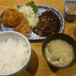 ごはん屋さん - 洋風ハンバーグ&マグロカツ定食