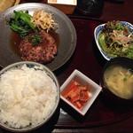 松阪苑 - 松坂牛ハンバーグ ¥990-