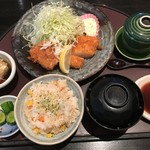 あい葉 - 料理写真:「1.えびかつ・とんかつ」1,300円