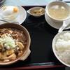 湖苑 - 料理写真:麻婆豆腐定食(1080円税込、2016年7月)、ご飯のお代わりは自由