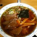 ヤマキ馬肉ラーメン - 馬肉醤油ラーメン¥550(H28.7.15撮影)