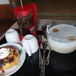 カフェ えどもんず - (2016/5月)王様ブルーマウンテン100%珈琲、バームクーヘン、極上ミルク珈琲