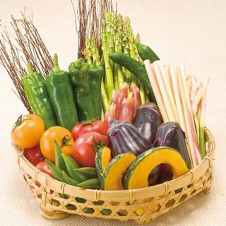 国産食材90%以上、特別栽培農作物使用しております