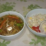 チョムパイ - 2016/07/01 19:30訪問:スープ&サラダ