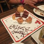 シュラスコ&ビアバー GOCCHI BATTA - 誕生日ケーキ?
