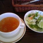 5362364 - ランチセットのサラダとスープ