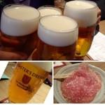 ザ・ワインバー ナカス - ◆ワインバーですが、まずはビールで乾杯! マスターズドリームは『「醸造家が目指した夢のビール』というキャッチフレーズが付くだけあり、 芳醇で喉ごしもよく美味しい。