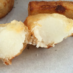 ふぉわふぉわ焼き くぅ - 山芋フライドポテトの断面