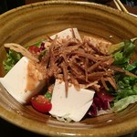 KICHIRI - 京とうふ藤野牛蒡、蓮根、金胡麻の豆富サラダ