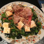 日本酒スローフード方舟 - 佐渡のナガモと小浜豆腐のサラダ