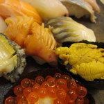 すし処 三國 - 極上寿司のアップ