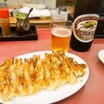 大阪せんや - ギューザ(2人前)&ビール