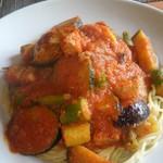 森のパスタ屋 ソング・オブ・ザ・バード - ある日のパスタ(豚肉と各種野菜のトマトソース)
