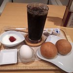 りせっとcafe - 胚芽パンのドリンクセット