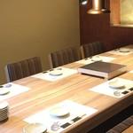 和灯 - 個室、テーブル