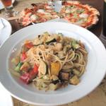 セルバジーナ - 料理写真:夏野菜のペペロンチーノ