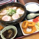 吉川屋 - チャーシュー麺定食 大盛り ¥980!!  ¥100+麺が大盛りになる!!