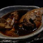 53660720 - ランチ付属小鉢の、魚のあらの入った煮こごり