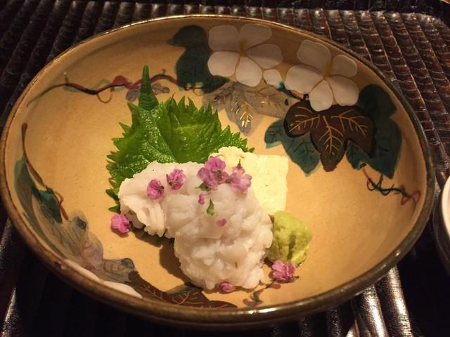 GINZA 水野 - ★8ハモの洗いと京湯葉 梅肉醤油で