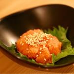 天ぷら串ともつ鍋 奥志摩 - 白ワイン仕込み からし明太子