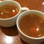 炭火焼ハンバーグカキヤス - カレースープ
