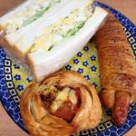 53668786 - 卵サンド、クロワッサンソーセージ、クロワッサンジャンボン