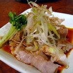 胡麻屋 - 坦々麺セット¥850の小皿「豚しゃぶの四川ソース」
