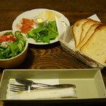 熊谷珈琲 - 森のくまさん こだわりのサンドウィッチ(サラダ付き)
