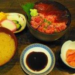 ふみ野 - まぐろ・ネギトロ丼(\1,380)